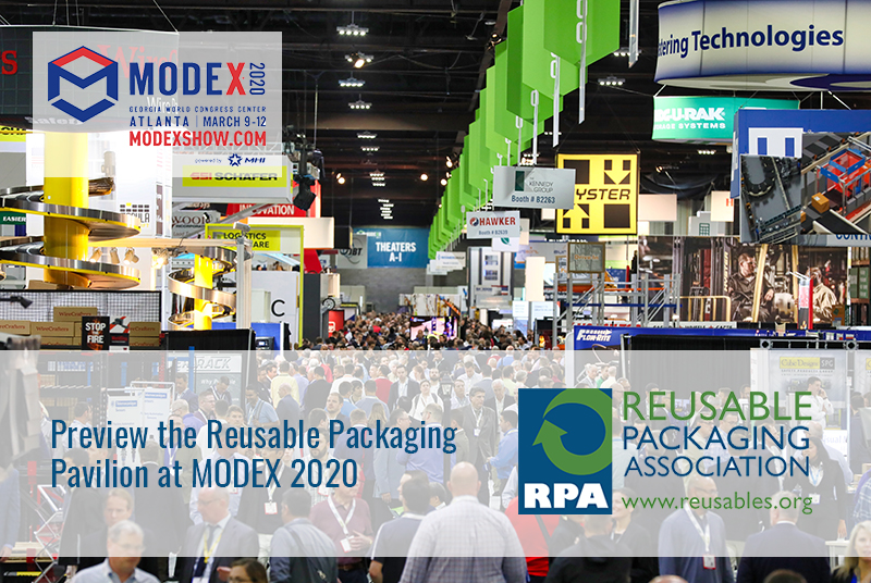 Reusable packaging pavilion at MODEX 2020